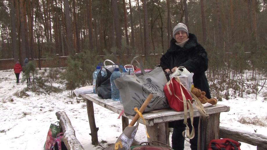 Елена Леонидовна на месте тренировок скаутов